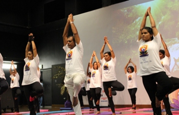 International Day of Yoga June 21,2015 Daaga Auditorium , UWI