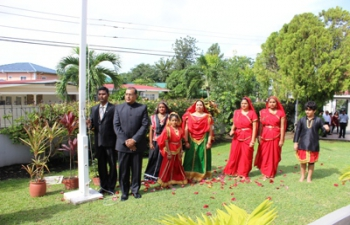 69th Independence Day Flag Hoisting Ceremony at India House 15 August 2015