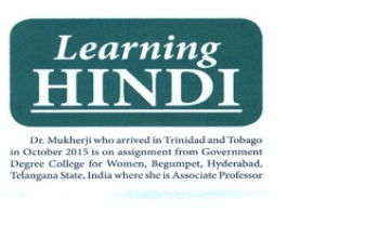 Learning Hindi