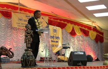 H.E. Gauri Shankar Gupta spoke on the Spirit of India at the Annual Hindi Nidhi Dinner & Cultural Evening on Saturday 21st May , 2016