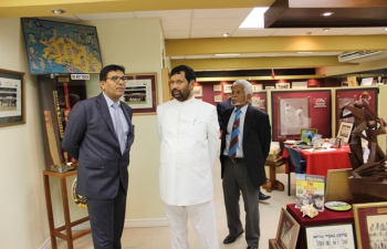 Minister of Consumer Affairs, Food and Public Distribution, Shri Ram Vilas Paswan toured the Cricket Heritage Museum, Queen's Park Oval Cricket Stadium