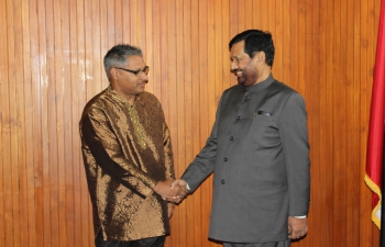 Minister of Consumer Affairs, Food and Public Distribution, Shri Ram Vilas Paswan called on Mr. Clarence Rambharat, Minister of Agriculture, Land & Fisheries, Government of Trinidad and Tobago, at his Office in Port of Spain, – October 26, 2016