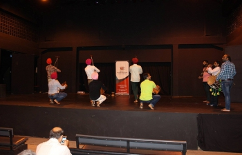 High Commission of India, Mahatma Gandhi Institute for Cultural Co-Operation in collaboration with the Ministry of Community Development, Culture and the Arts organized a workshop by a 12 Member Asian Punjabi Bhangra Group from India at Lil Carib Theater, Port of Spain