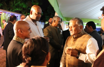 The  Honorable General Dr. V.K. Singh, Minister of State, Ministry of External Affairs, India, gave brief remarks at the reception cum dinner at India House.