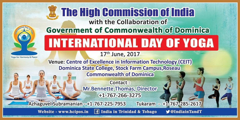Yoga Day 2017 in the Common Wealth of Dominica