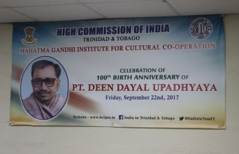 CELEBRATION OF 100TH BIRTH ANNIVERSARY OF PT. DEEN DAYAL UPADHYAY - September 22, 2017