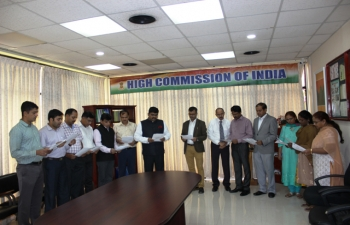 In observance of Vigilance Awareness Week, all officers and Staff members of High Commission of India, Port of Spain took Integrity Pledge for Citizens