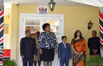 High Commissioner presents his credentials to the President of Trinidad & Tobago