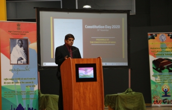 The High Commission of India celebrated Constitution Day 2020 at the Mahatma Gandhi Institute for Cultural Cooperation.