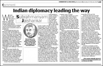 Article by Minister of External Affairs, India Dr. S. Jaishankar titled Re-imagining diplomacy in the post-COVID world: 'An Indian Perspective' published in Trinidad Express Newspapers